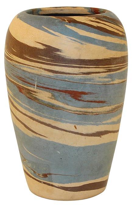Amazon Niloak Pottery Mission Swirl Shouldered Blue Vase Home