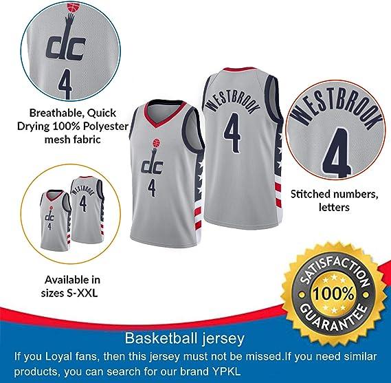 Camiseta de baloncesto de Washington Wizards 4# Russell ...