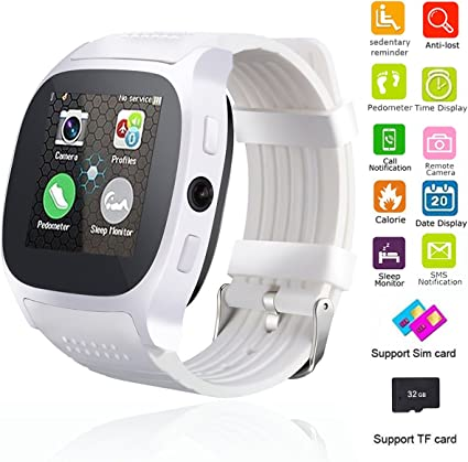 Smart Watch Bluetooth Unlocked Wristwatch Cell Phone With Camera SIM TF Card Slot Sport Fitness Tracker Sweatproof for Men Women Boys Girls for ...