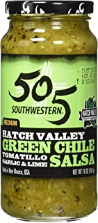 product image for 505 Southwestern Hatch Valley Green Chile Salsa (Tomatillo, Garlic and Lime) (16 Ounces) - PACK OF 4