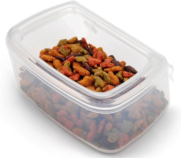 DryFur Pet Kennel Food Water Dish - Spill Resistant - Hook On Bowls (Set of 2)