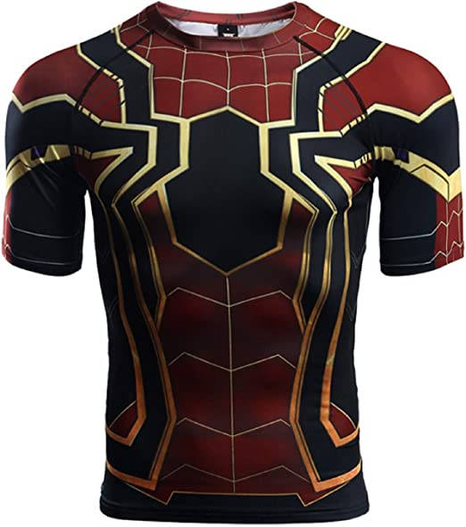 2018 Avengers Infinity War Spiderman T-Shirts Cosplay Avengers 3D Sports T-Shirt