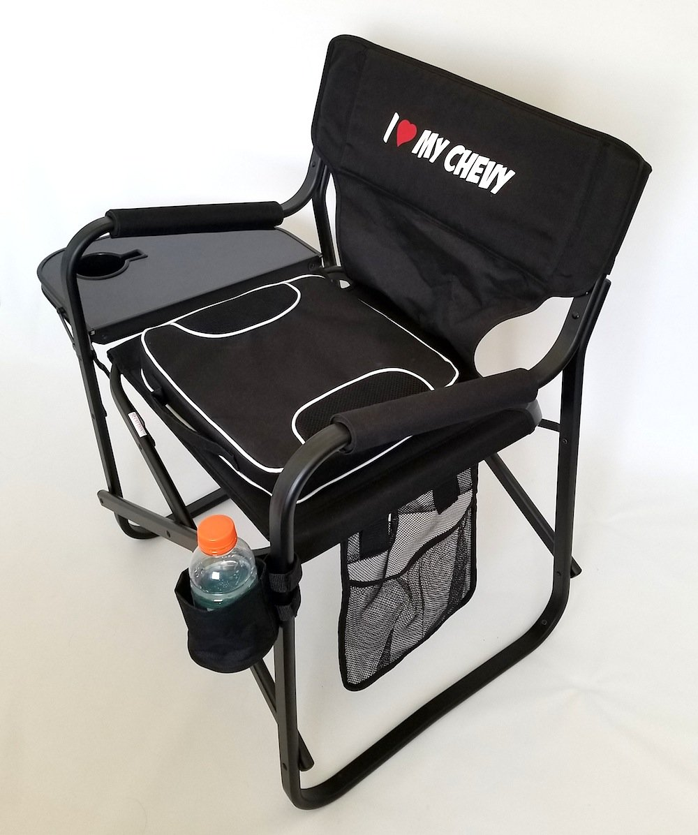''''''''SEASON SPECIAL'''''' I LOVE MY CHEVY--- Folding Aluminum Director Chair-- PRODUCT---5 YEARS WARRANTY