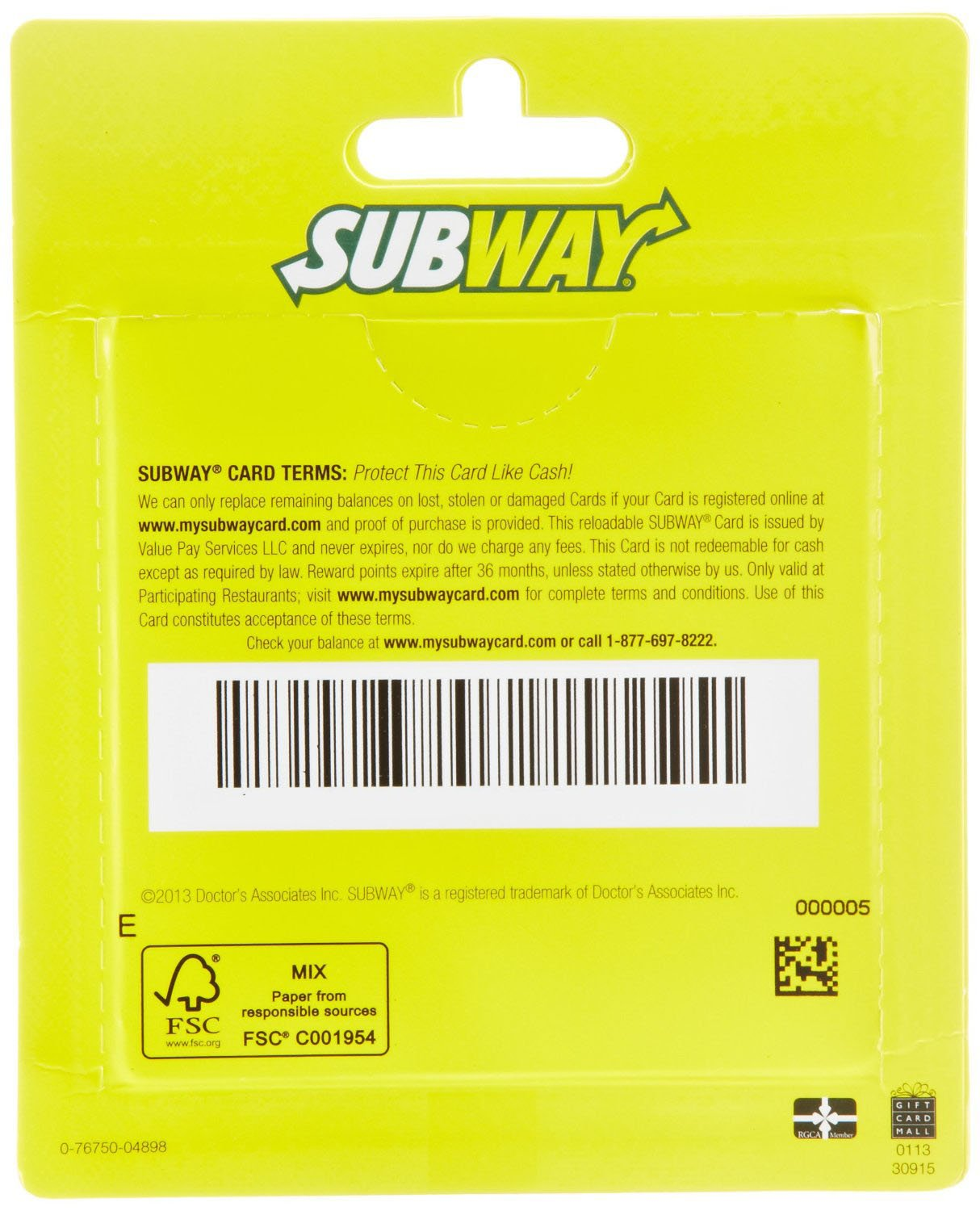 Amazon.com: Subway Gift Cards, Multipack of 3 - $10: Gift Cards