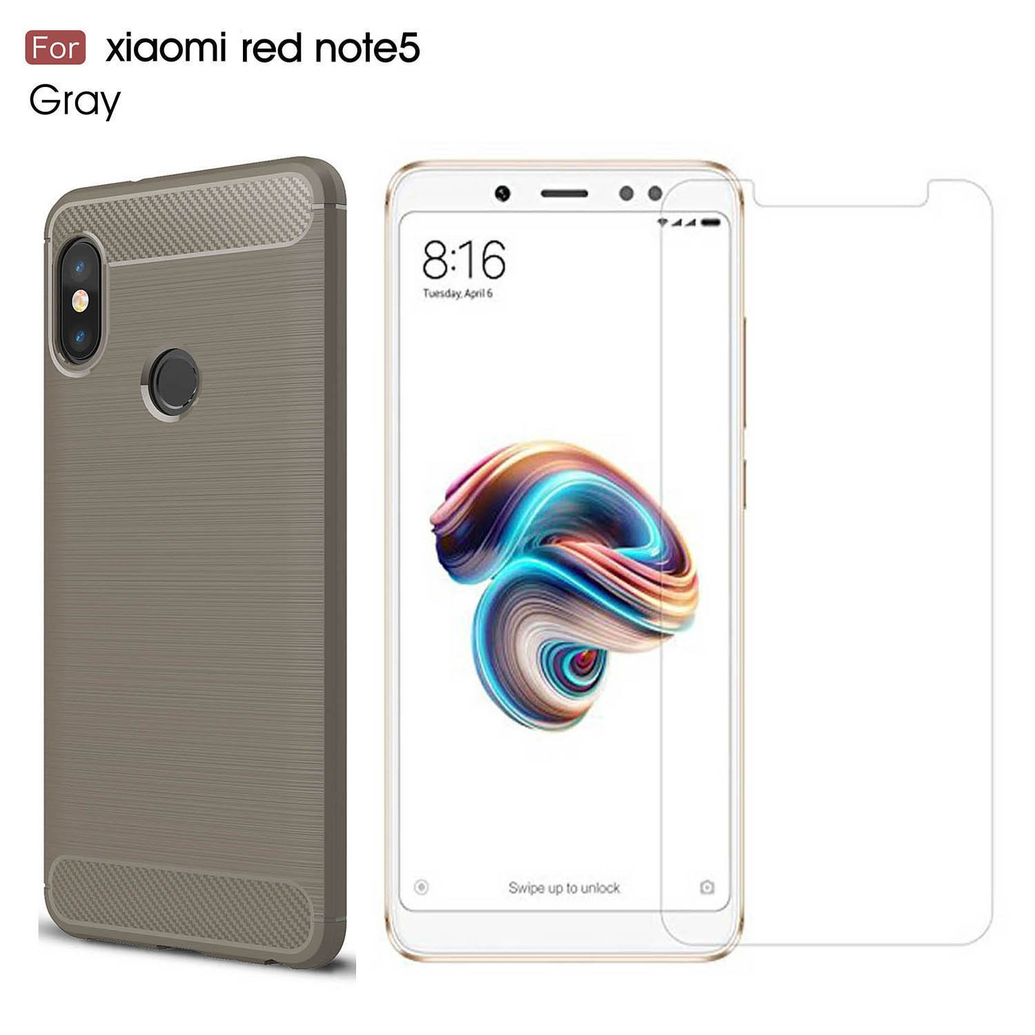 Xiaomi Redmi Note 5 case/Redmi Note 5 Pro case,with Xiaomi Redmi Note 5/Redmi Note 5 Pro screen protector. MYLB (2 in 1)[Scratch Resistant Anti-fall] ...