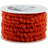 Bastelwolle zum Dekorieren von Gef/ä/ßen und Gestecken beliebt in der Floristik 10 Meter auf Plastikrolle Wollschnur 10 mm breit Farbe: schlamm Wollkordel