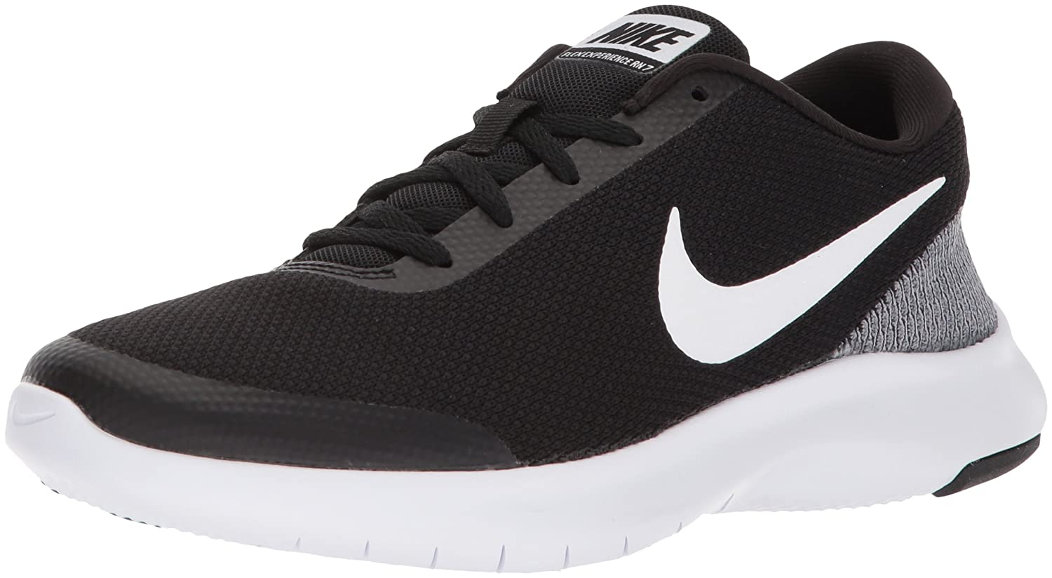 NIKE Women's Flex Experience 7 Wide Running Shoe B071YZXHB1 6 W US|Black/White - White