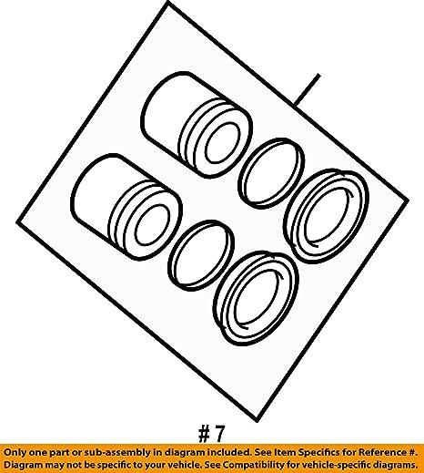 Amazon com: Mopar 6804 9147AB, Disc Brake Caliper Repair Kit