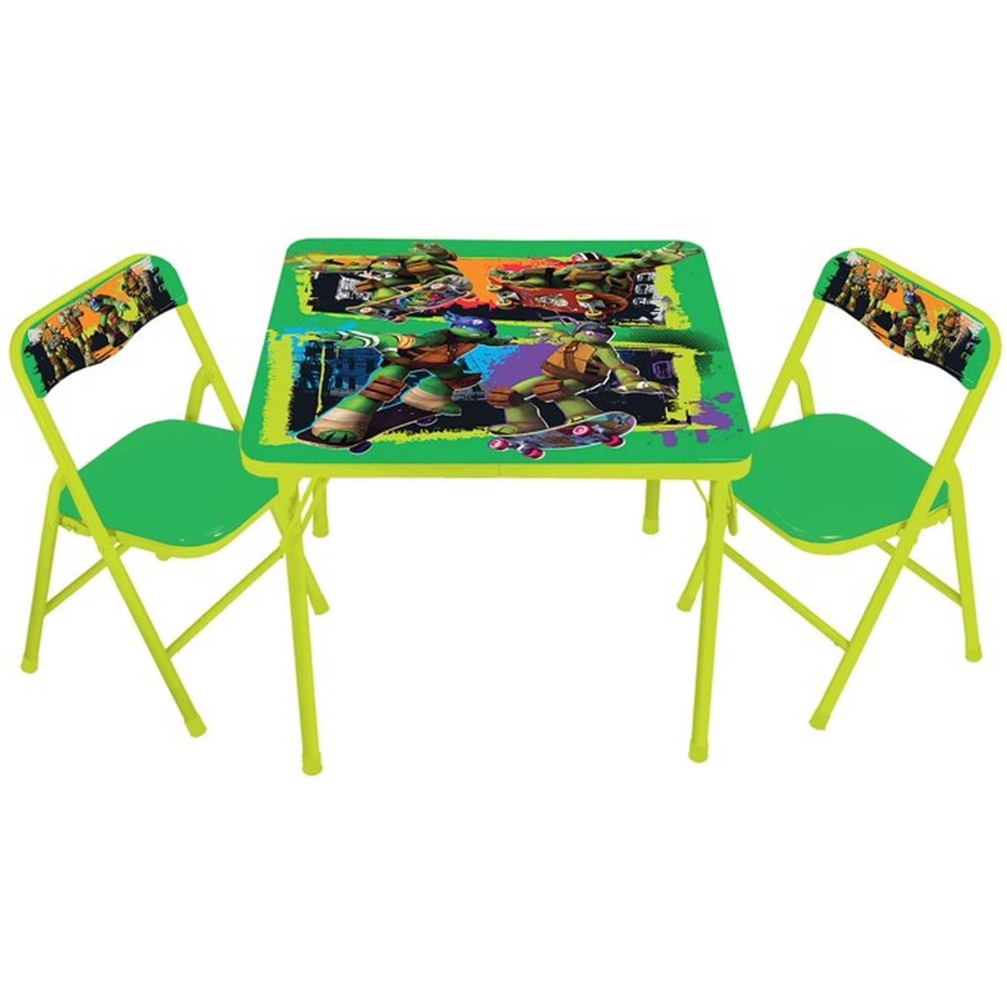 Teenage Mutant Ninja Turtles Maxin & Shellaxin Erasable Activity Table Set and 2 chairs by Teenage Mutant Ninja Turtles