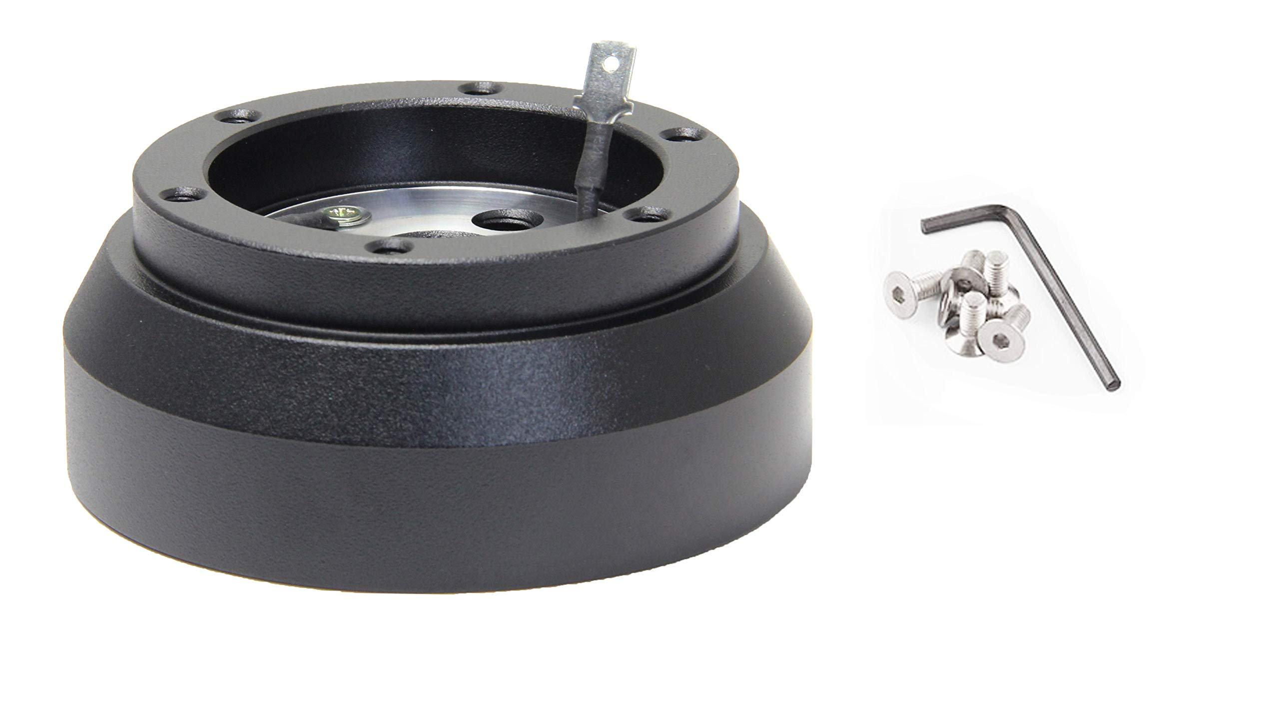 Leadrise-170H Black Steering Wheel Quick Release Hub Adapter Snap for Dodge GM Cheverolet Jeep by Leadrise