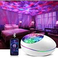 Star Projector, Galaxy Projector Ocean Wave Projector with Music Player Timer Bluetooth, Kids Night Light Projector with…