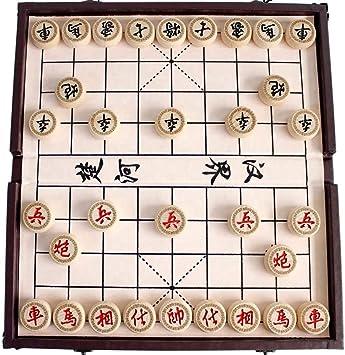 Gobus Juego de ajedrez Chino en una Caja Plegable Juegos de Viaje Juegos de Xiangqi Juegos