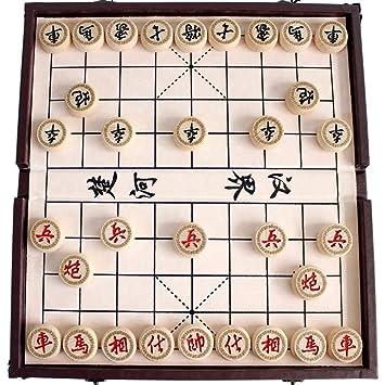 Gobus Juego de ajedrez Chino en una Caja Plegable Juegos de Viaje ...
