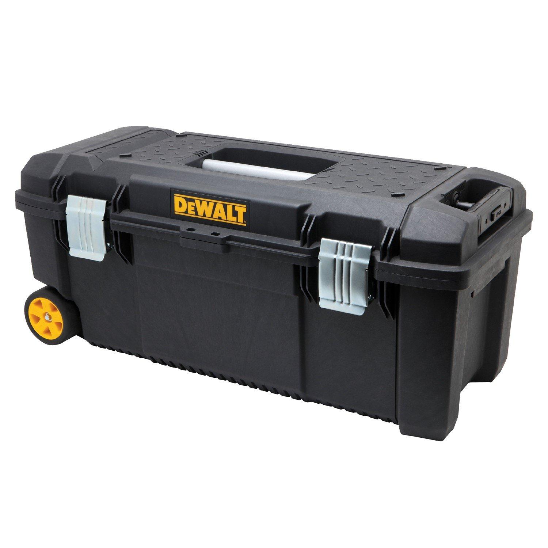 Portable Tool Box, 88lb, 11-45/64in.H, Blk by DEWALT