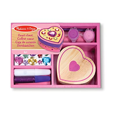 Melissa & Doug Decorate-Your-Own Wooden Heart Box Craft Kit: Toys & Games [5Bkhe0803764]