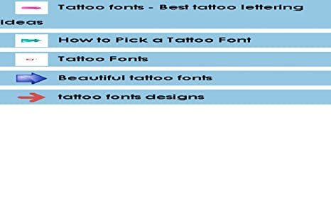 Amazon Com Tattoo Fonts Designs Appstore For Android