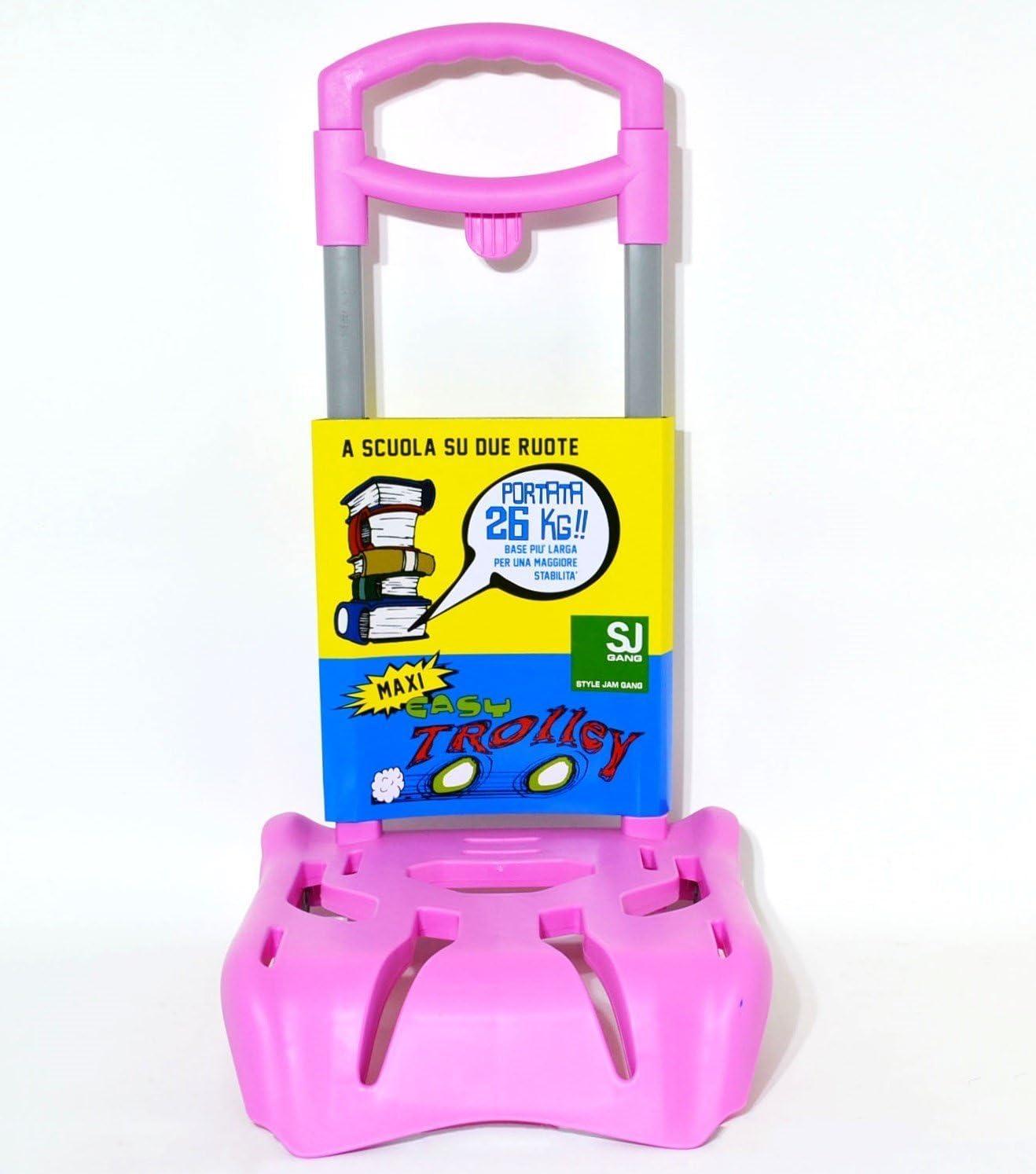 SJ Gang Portata 15 Kg Easy Trolley Seven carrellino Porta Zaino rosa