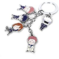 Anime Keychains Anime merch Zinc Alloy Keychains Anime Keyring 5 Roles 9 Roles