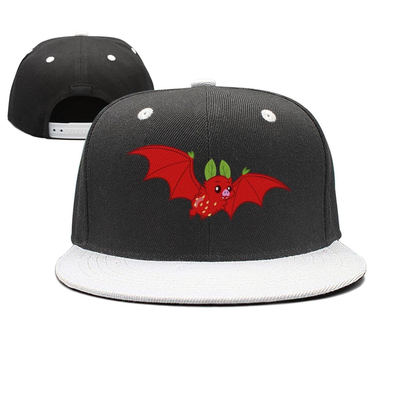 Coolhat Womens Mens Kawaii Strawberry Bat Wool Adjustable Basketball Hat