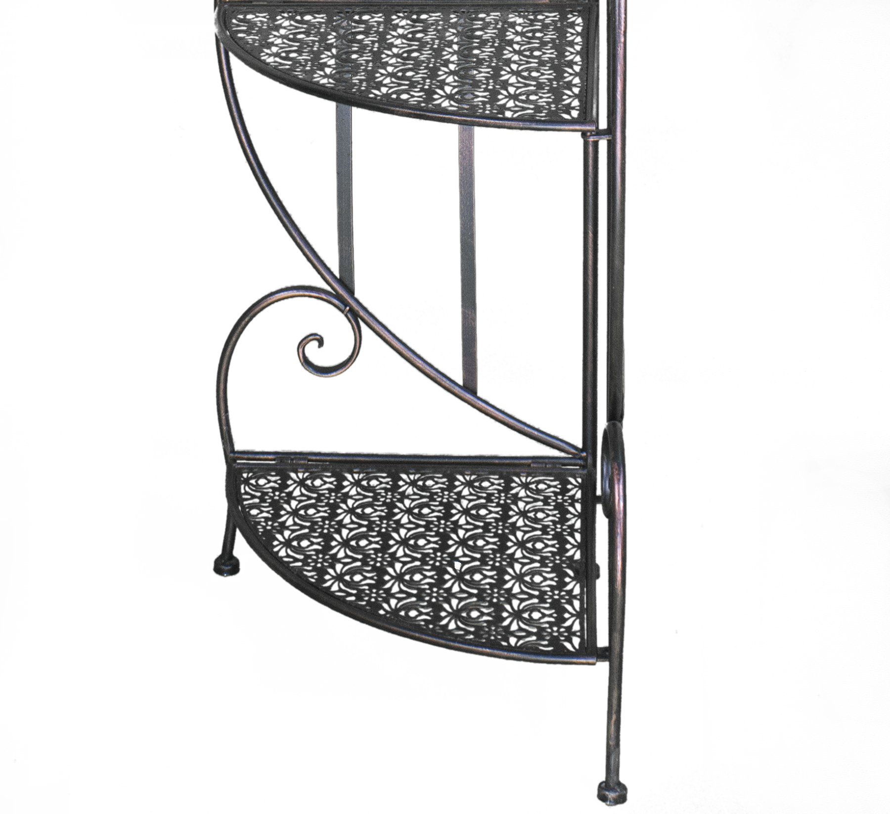 Heather Ann Creations W190795-BC Daisy Kitchen Corner Bakers Rack, Blackened Copper by Heather Ann Creations (Image #4)
