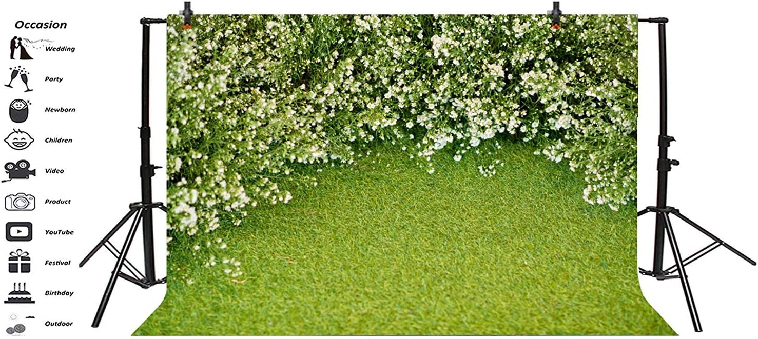 8x6.5ft Graceful Small Flowers Wall Backdrop Polyester Spring Scenery Wedding Ceremony Background Landscape Wallpaper Wedding Event Activities Adult Portrait Shoot Studio Props