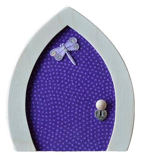 Puerta de hada morada - diseño de libélula: Amazon.es: Hogar