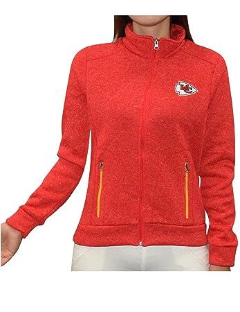 NFL Kansas City Chiefs Damen Pro-Qualität Zip-Up Polar Fleece Herbst /  Winterjacke