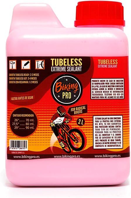 Biking Pro liquido tubeless 2L antipinchazos. Gama Xtreme Sealant ...
