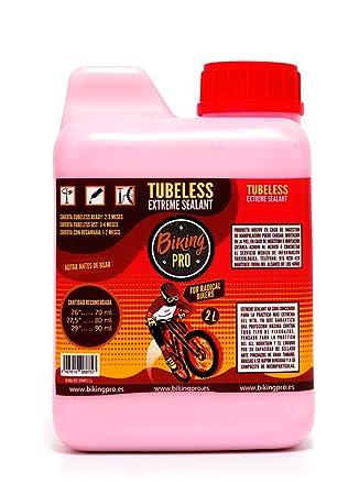 Biking Pro, Botella antipinchazos Ruedas Tubeless 2L. Gama Xtreme Sealant.: Amazon.es: Deportes y aire libre
