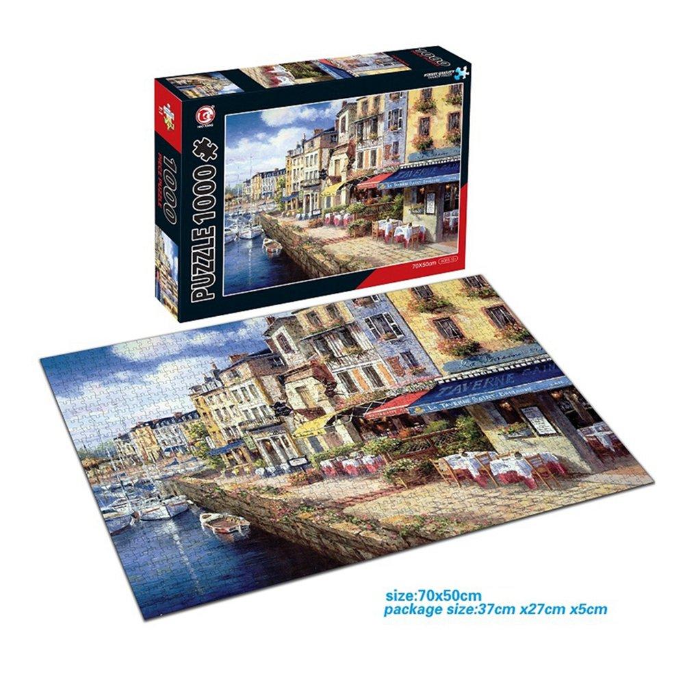 ThinkMax City Port 1000-Piece Jigsaw Puzzle