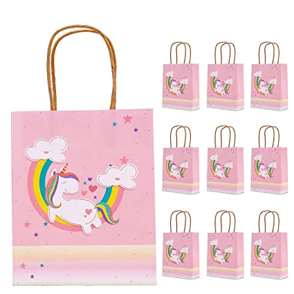 Amazon.com: KSM UP Unicorn bolsas de regalo, bolsas de papel ...