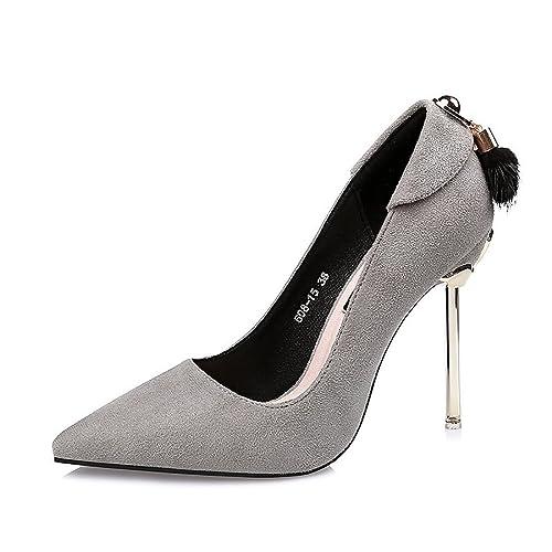7c1b68397037 DIMAOL Scarpe da Donna in Similpelle di Caduta di Primavera Comfort Tacchi  Stiletto Heel Punta per
