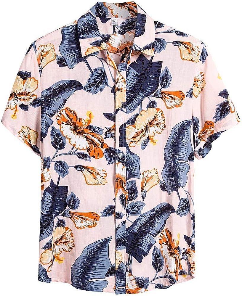 Sylar Camisa Hawaiana Manga Corta para Hombre Verano Casual Flores Estampado Camisas de Playa Moda T-Shirt Camisetas Slim fit Blusas M: Amazon.es: Ropa y accesorios
