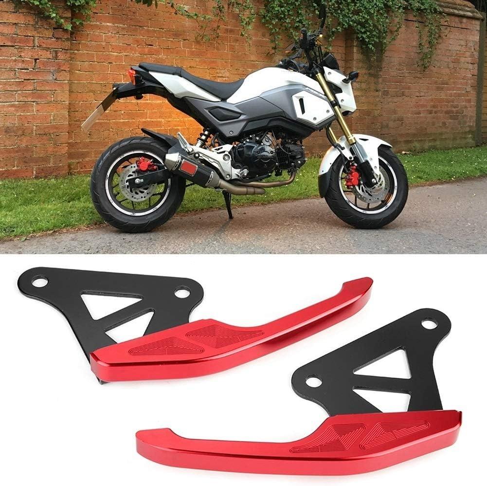 Heitune Di Alluminio Universale del Motociclo Il Passeggero del Sedile Posteriore Grab Bar Ferroviaria Maniglia Kit Rosso