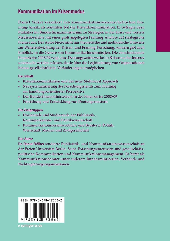 Kommunikation im Krisenmodus: Konzeption des Strategischen Framing ...