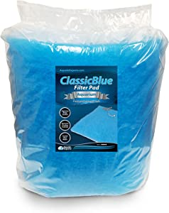 Aquatic Experts Classic Bonded Aquarium Filter Pad - Blue and White Aquarium Filter Media Roll Bulk Can Be Cut to Fit Most Filters, Made in USA