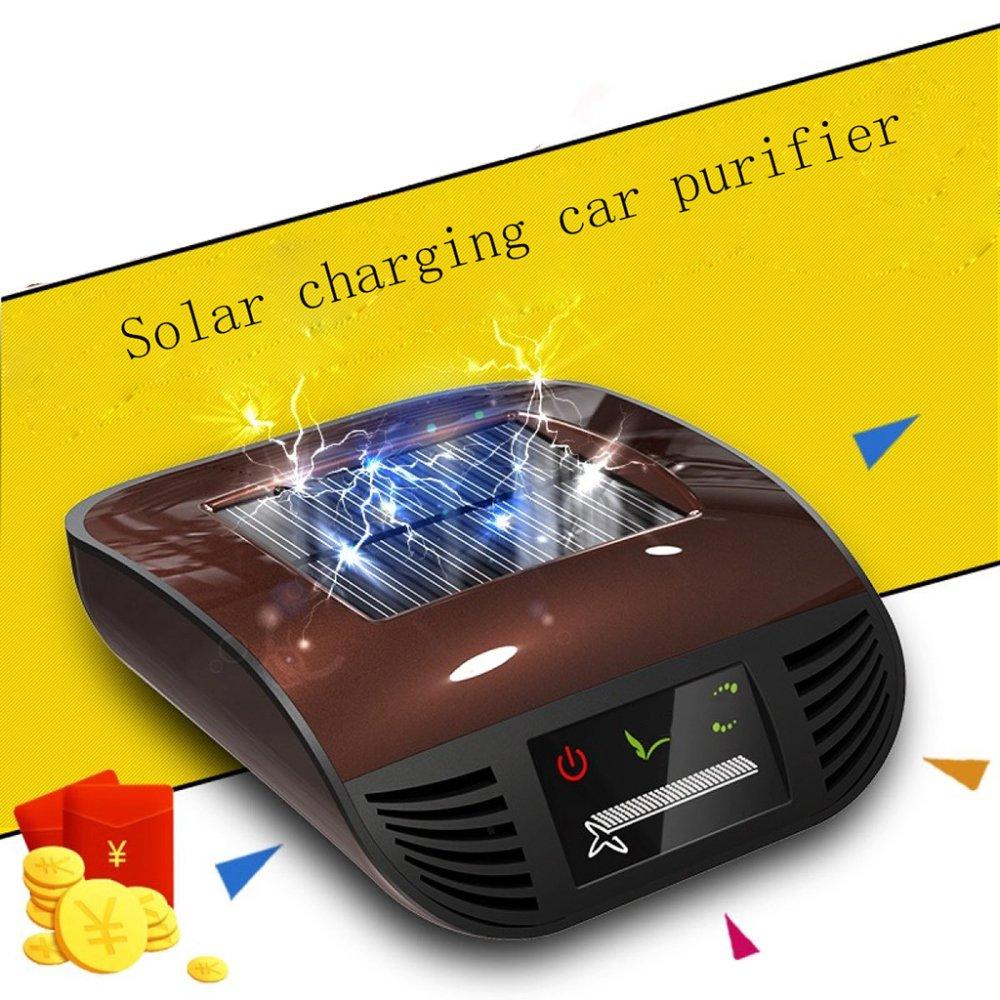 Purificador De Coche Aire De La Casa del Automóvil Anión Solar Excepto El Formaldehído Olor PM2.5,Gold: Amazon.es: Hogar
