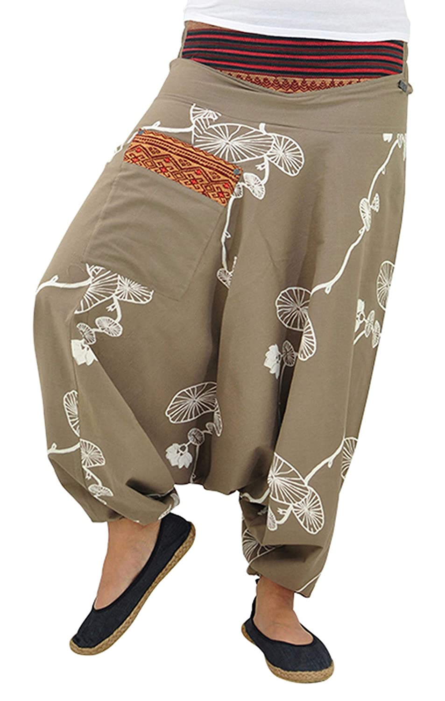 virblatt Pantalones Bombacho Mujer Yoga cagados como pantal/ón Chandal /árabe Erleuchteter