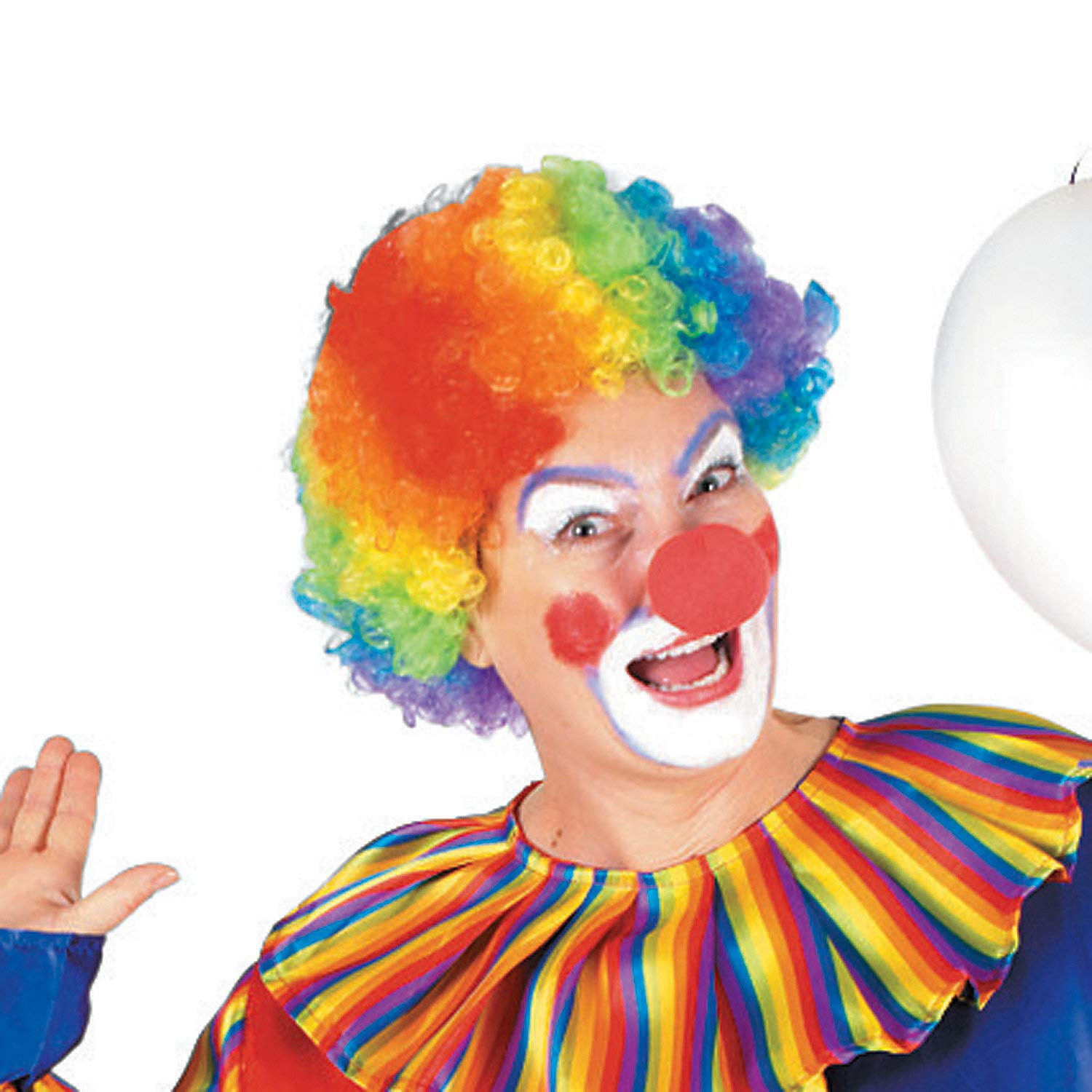 Amazon.com  Fun Express - Rainbow Clown Wig for Party - Apparel Accessories  - Costume Accessories - Wigs   Beards - Party - 1 Piece  Toys   Games 4e869c3d4