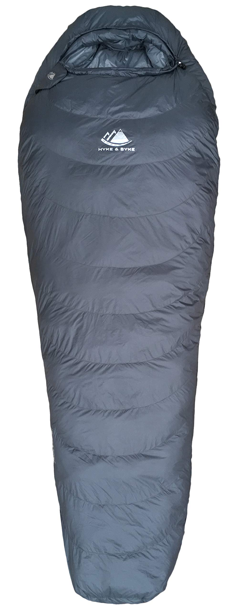 Hyke & Byke 0 Degree F 625 Fill Power Hydrophobic Sleeping Bag with Advanced Synthetic - Ultra Lightweight 4 Season Men's and Women's Mummy Bag Designed for Backpacking 4