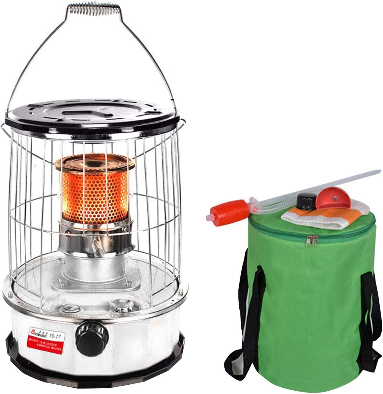 Kerosene Stove Heater Indoor Heater Oil Heater Glass Burner, Portable Kerosene Oil Heater Burner with Storage Bag for Indoor Outdoor Patio Camping Barbecue