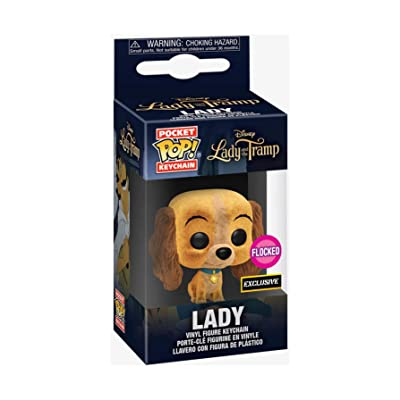 Funko Pocket POP! Keychain Disney Lady and The Tramp Lady Flocked Exclusive: Toys & Games