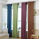 Chlove Blickdichte Vorhänge Isolierter Gardine Fenster Schal Mit Ösen Für  Schlafzimmer Wohnzimmer 175x140cm/245x140cm (