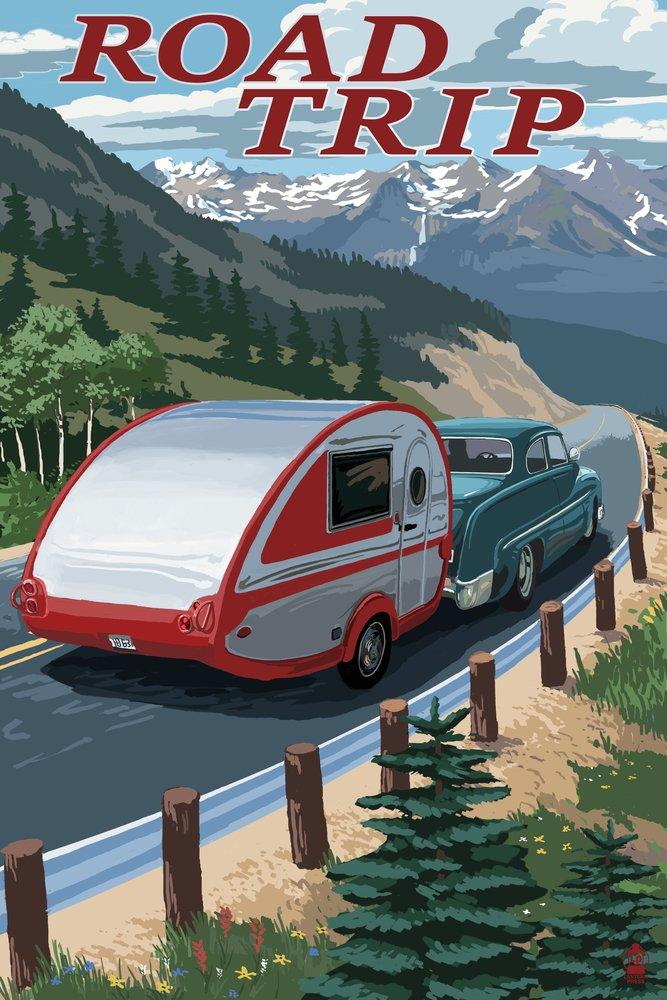 Road Trip – 国立公園WPA Sentiment 36 x 54 Giclee Print LANT-52756-36x54 36 x 54 Giclee Print  B017EA196W