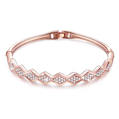 Menton Ezil Spiritual Guidance 18K Rose Gold Swarovski Element Bracelet Love Designed Adjustable Bangle Womens Jewellery yeeTb