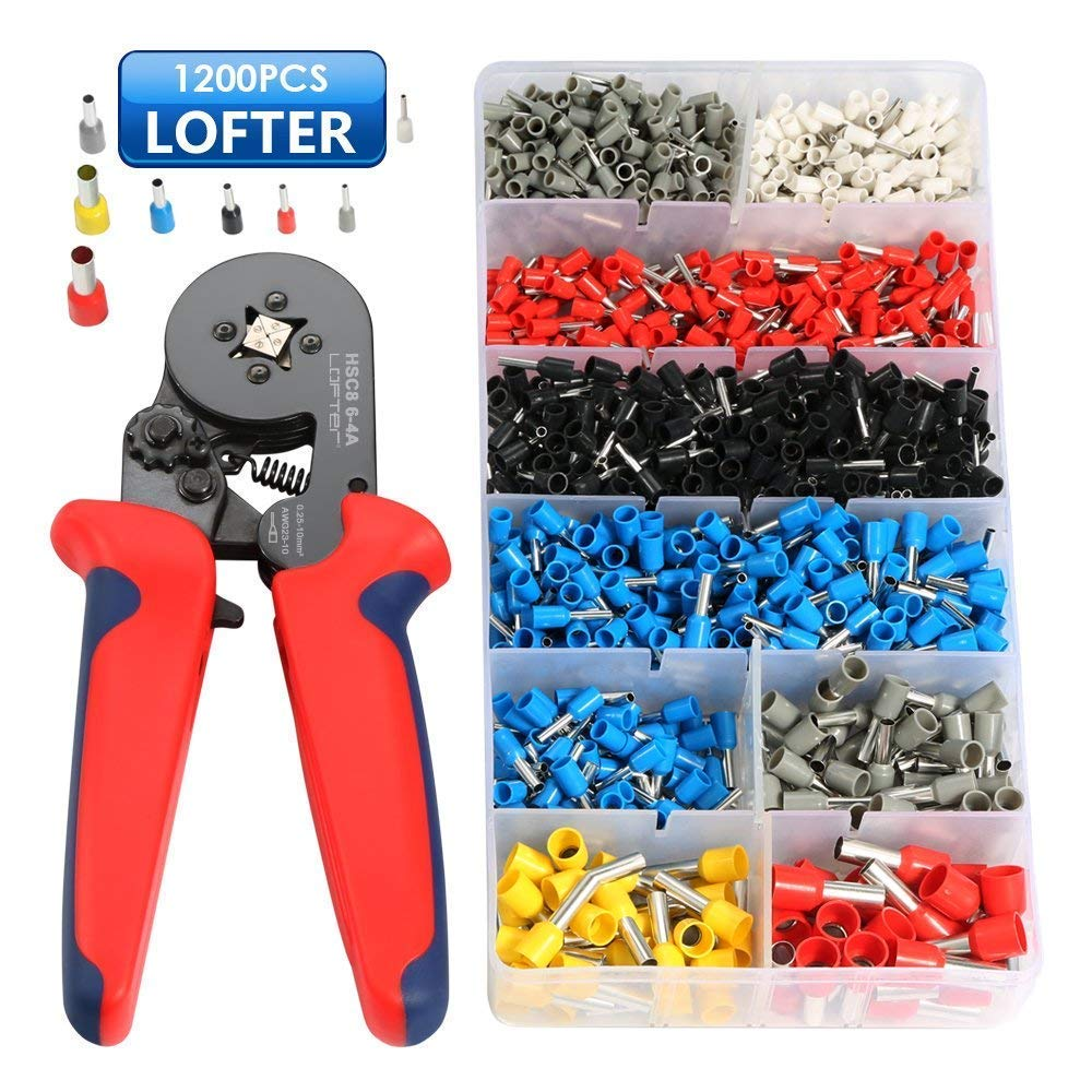 Vanow - Juego de casquillos y herramientas de engarce, alicates engarzadores con herramienta de engarce