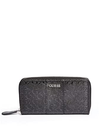 4c682e3f6b GUESS Factory Women s Ware Patent Logo Zip-Around Wallet at Amazon Women s  Clothing store
