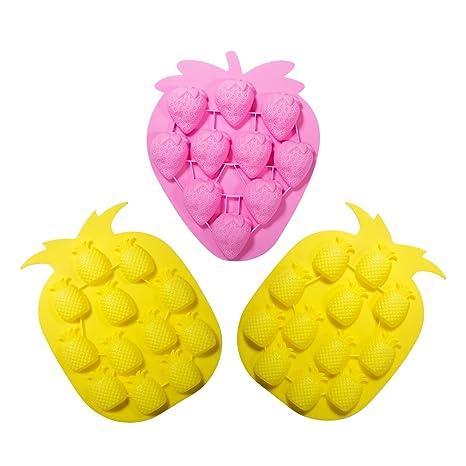 WARMWIND Moldes de silicona para frutas, de grado alimenticio, antiadherentes, moldes para cubitos