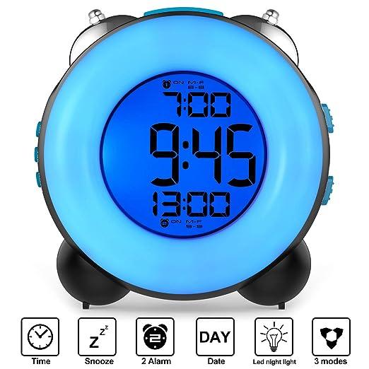 Banne Bon - Reloj Despertador con Alarma Dual Opcional, función de ...
