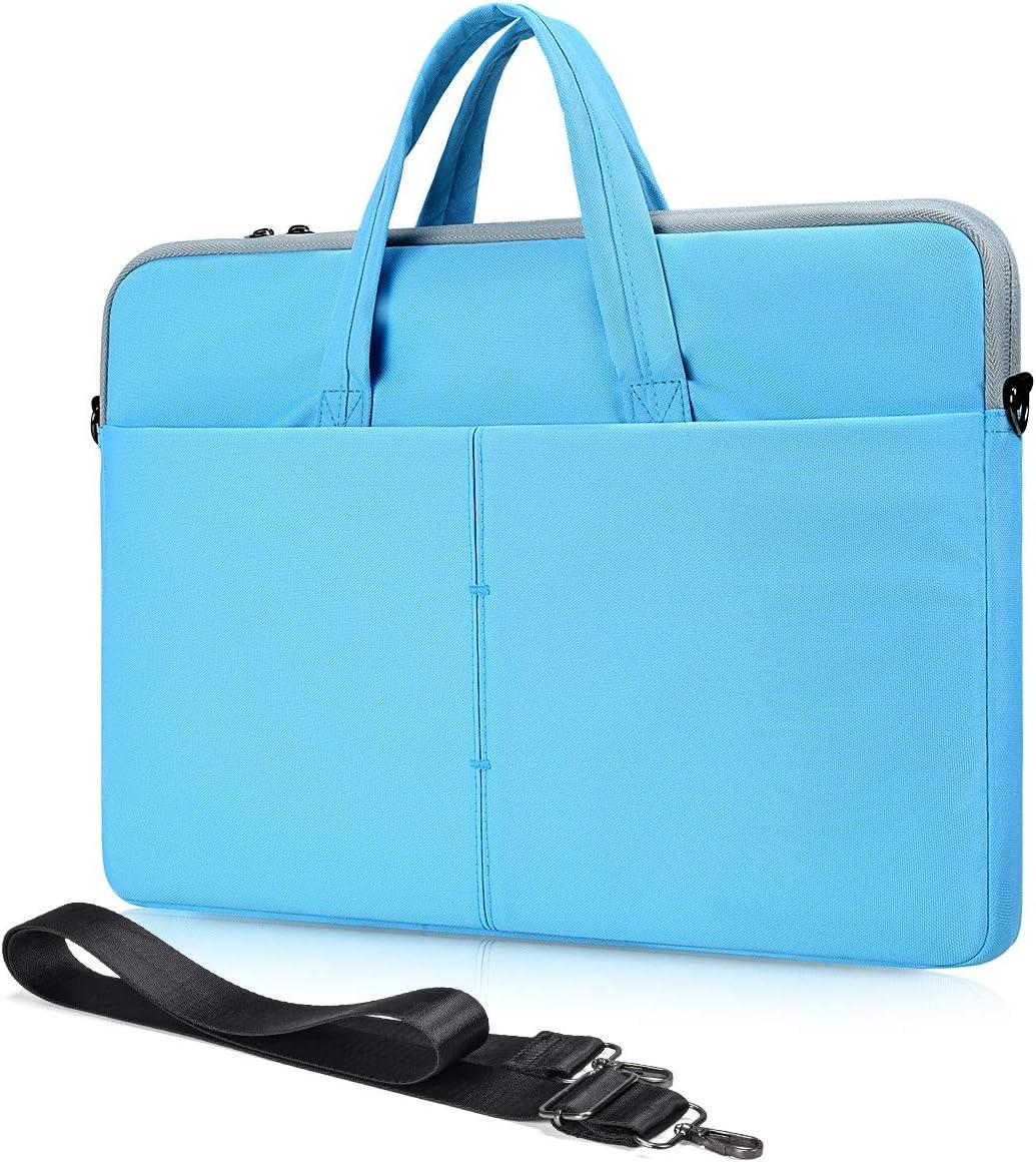 14-15 Inch Laptop Shoulder Case for Dell XPS 15 9570/Dell Latitude/Inspiron 14,Acer HP Chromebook 14, Lenovo Flex 14/Yoga C940 C740,HP Pavilion 14 Shoulder Bag(Blue)